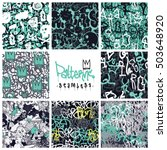 big set of seamless patterns ... | Shutterstock .eps vector #503648920
