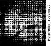 halftone dots pattern .... | Shutterstock .eps vector #503650696