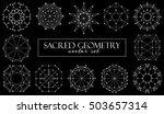 sacred geometry symbols vector... | Shutterstock .eps vector #503657314