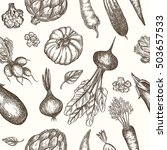 seamless pattern with handdrawn ... | Shutterstock .eps vector #503657533