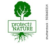 protect the nature. symbol with ... | Shutterstock .eps vector #503660314