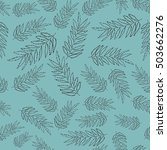 seamless ecology pattern with... | Shutterstock .eps vector #503662276