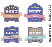 set of badges with ribbons  and ... | Shutterstock . vector #503672923