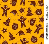 christmas decoration of pattern ... | Shutterstock .eps vector #503674264