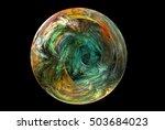fractal decorative illustration ... | Shutterstock . vector #503684023