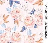 seamless vintage roses | Shutterstock .eps vector #503685364