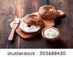 Whole Grain Bagels With Cream...