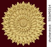 golden mandala  indian ornament.... | Shutterstock .eps vector #503690314