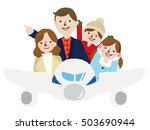 family vacation trip on an... | Shutterstock .eps vector #503690944