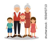 group family members characters | Shutterstock .eps vector #503693713