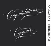 congratulations. retro style... | Shutterstock .eps vector #503694400