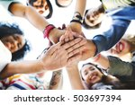 college students teamwork... | Shutterstock . vector #503697394