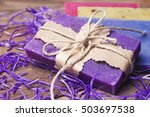collection of handmade  natural ... | Shutterstock . vector #503697538