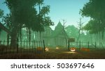 abandoned haunted house with... | Shutterstock . vector #503697646
