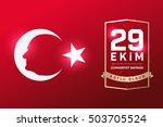 republic of turkey national... | Shutterstock .eps vector #503705524