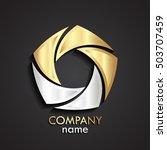 3d gold silver swirl logo  ... | Shutterstock .eps vector #503707459