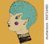 face in profile   Shutterstock .eps vector #503713483