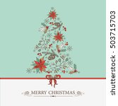 christmas and new year tree... | Shutterstock .eps vector #503715703