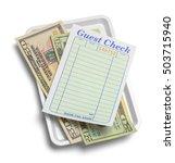 receipt tray with money...   Shutterstock . vector #503715940