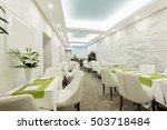 restaurant in a luxury hotel     Shutterstock . vector #503718484