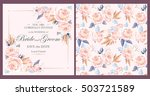 vintage wedding invitation | Shutterstock .eps vector #503721589