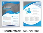 vector brochure flyer design... | Shutterstock .eps vector #503721700