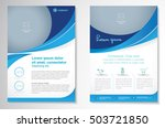 vector brochure flyer design... | Shutterstock .eps vector #503721850