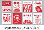 vector flat style sale banners... | Shutterstock .eps vector #503723578