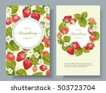 vector strawberry vertical... | Shutterstock .eps vector #503723704