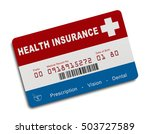 american health insurance card... | Shutterstock . vector #503727589