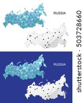 russia map in geometric... | Shutterstock .eps vector #503728660