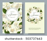 Stock vector vector jasmine flowers banner design for tea natural cosmetics beauty store organic health care 503737663