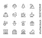 winter icons with white... | Shutterstock .eps vector #503745949