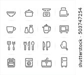 kitchen icons with white... | Shutterstock .eps vector #503747254