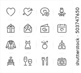 wedding and love icons with... | Shutterstock .eps vector #503747650