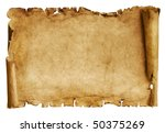 Old Paper Scroll Isolated On...