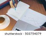 handwriting success on a... | Shutterstock . vector #503754079