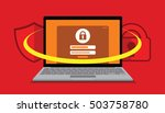 security system user account... | Shutterstock .eps vector #503758780