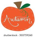 autumn pumpkin   Shutterstock .eps vector #503759260