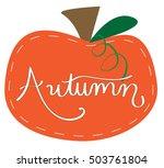 autumn pumpkin   Shutterstock . vector #503761804