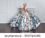 fashion interior portrait of... | Shutterstock . vector #503764180