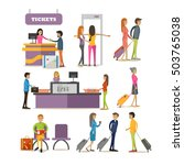 vector set of people characters ... | Shutterstock .eps vector #503765038