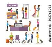 vector set of people characters ... | Shutterstock .eps vector #503765038
