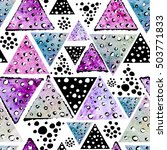 watercolor seamless pattern... | Shutterstock . vector #503771833