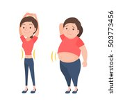 before and after weight loss... | Shutterstock .eps vector #503773456