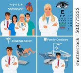 set of doctors and physicians   Shutterstock . vector #503775223