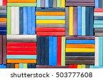 ceramic wall. colorful ceramic... | Shutterstock . vector #503777608