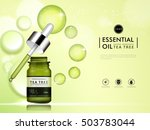 tea tree essential oil blank... | Shutterstock .eps vector #503783044