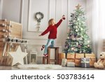 merry christmas and happy... | Shutterstock . vector #503783614