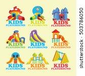 kids playground logos | Shutterstock .eps vector #503786050